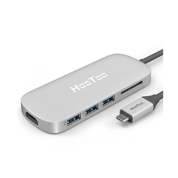 HooToo HT-UC001 Shuttle USB 3.1 Type-C Hub HDMI - SD Card Reader - 3x USB 3.0