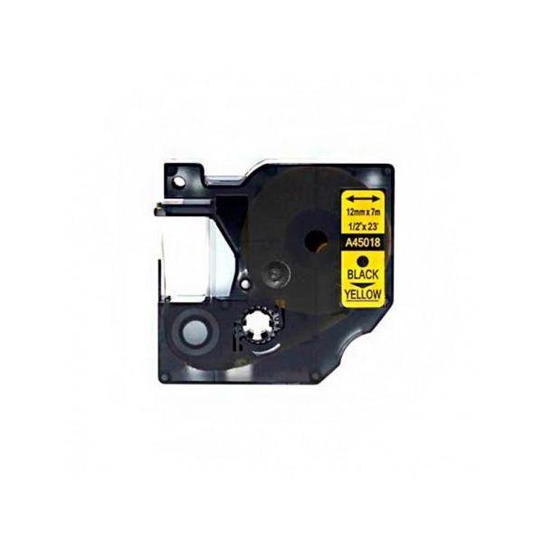 Fita Dymo D1 45018 PRETO / FITA AMARELA S0720580 Compatível