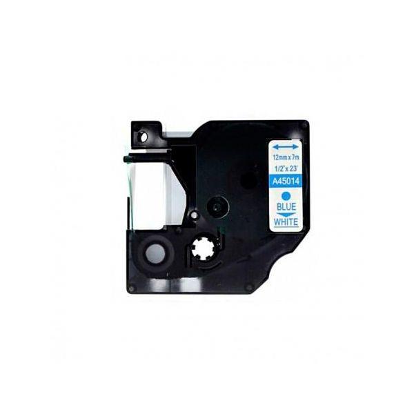 Fita Dymo D1 45014 Azul / Fita Branca S0720540 Compatível
