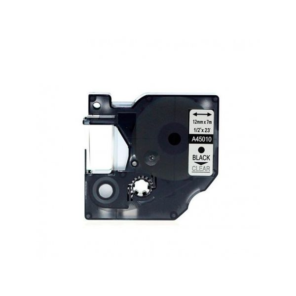 Fita Dymo D1 45010 Preto / Fita Transparente S0720500 Compatível
