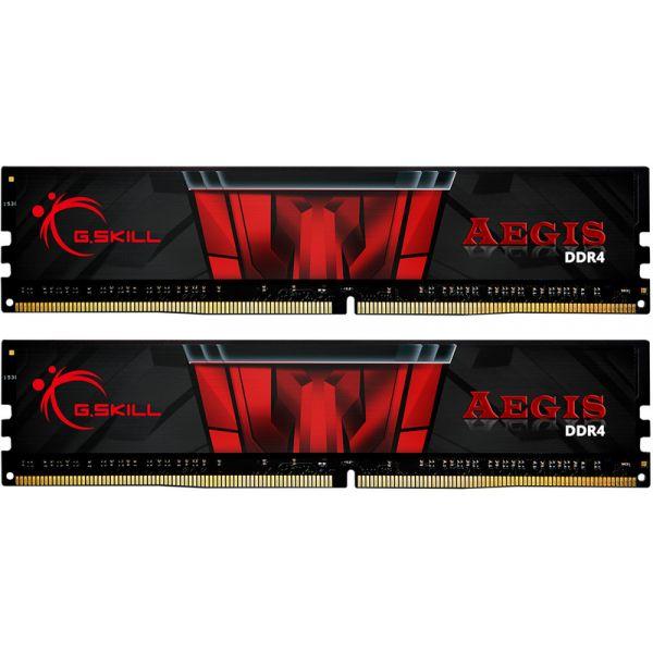 Memória RAM G.Skill 32GB Aegis (2x 16GB) DDR4 3000MHz PC4-24000 CL16 Black - F4-3000C16D-32GISB
