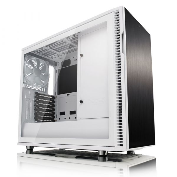 Fractal Design Define R6 White Tempered Glass - FD-CA-DEF-R6-WT-TG