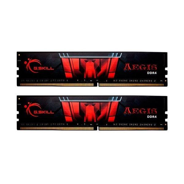 Memória RAM G.Skill 16GB Aegis (2x 8GB) DDR4 2666MHz CL19 Black - F4-2666C19D-16GIS