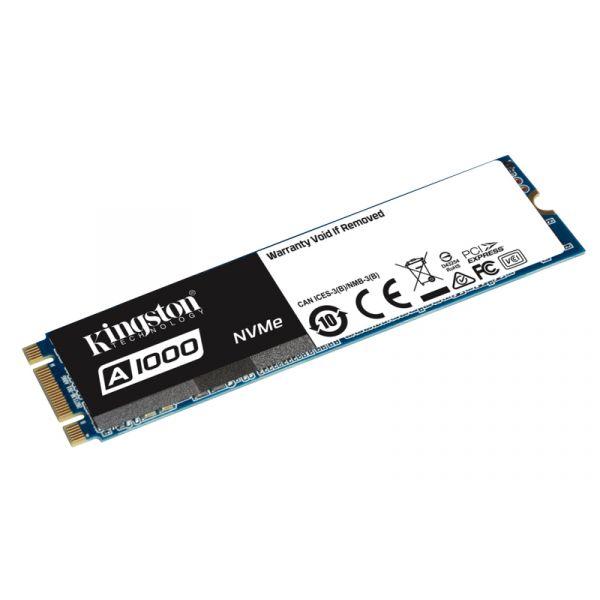 Kingston 480GB SSD M.2 2280 A1000 3D TLC NVMe - SA1000M8/480G