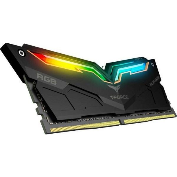 Memória RAM Team Group 16GB T-Force 2x 8GB DDR4 3200Mhz CL16 Night Hawk RGB Black - M65AG326G260