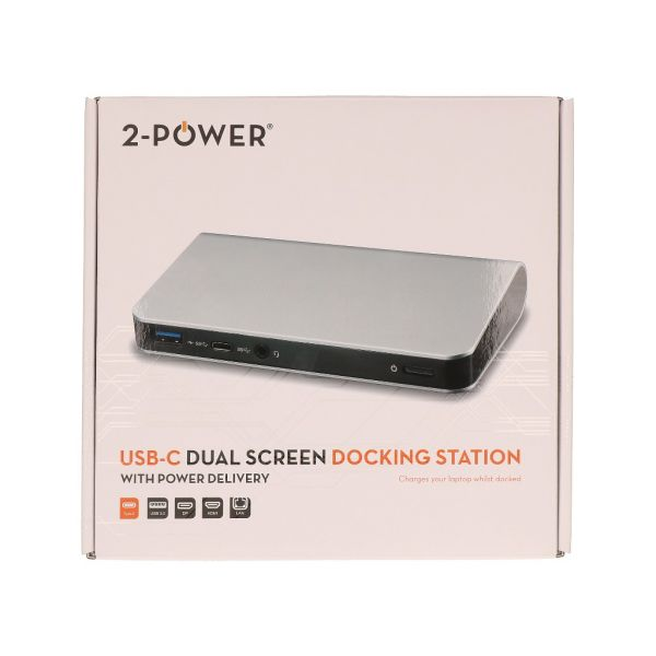 2-Power usb Type-c Docking Station + Pd & Mst. UK EU - DOC0105A
