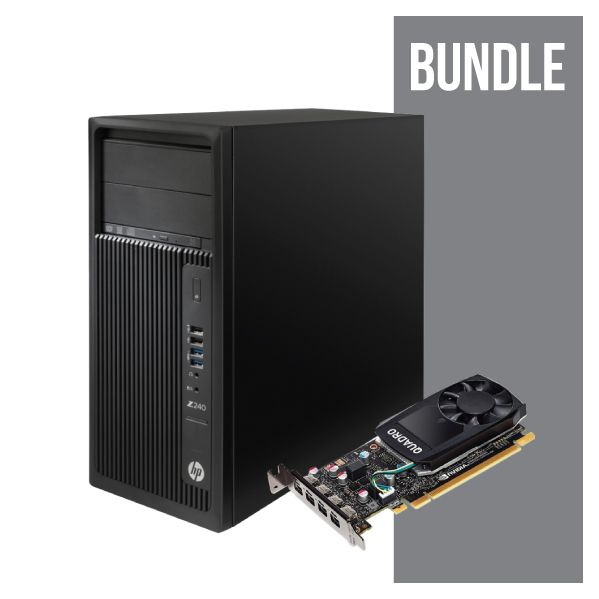 HP Workstation Z240T ZH4.2 8GB/1TB PC NVIDIA Quadro P600 - KIT_Y3Y88EA VGA
