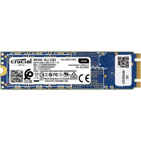 Crucial 500GB MX500 M.2 Sata III - CT500MX500SSD4