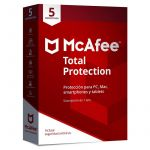 McAfee Antivírus Total Protection 2018 5 Dispositivos