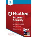 Mcafee 2018 Internet Security 3 Dispositivos - MIS00SNR3RAA