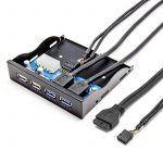 "Hub Frontal Interno para USB 3.0 3.5"""