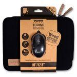 Port Designs Sleeve Torino Skin BK 10/12,5'' + USB Mouse (PC/Mac) - 501775