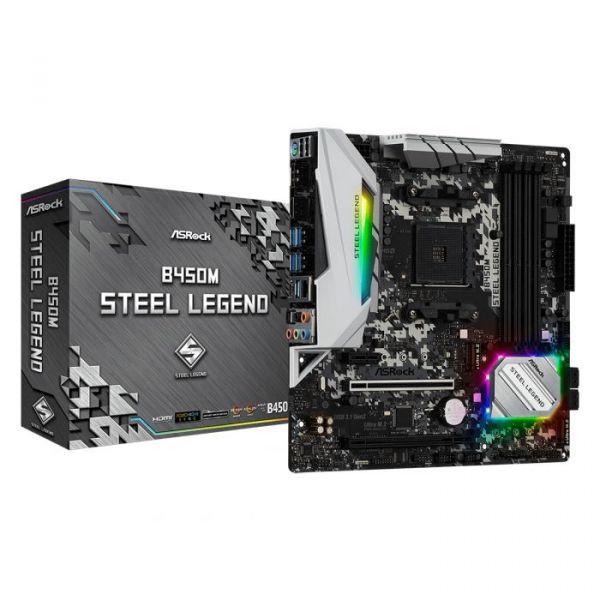 Motherboard AsRock B450M Steel Legend - 90-MXB9Y0-A0UAYZ
