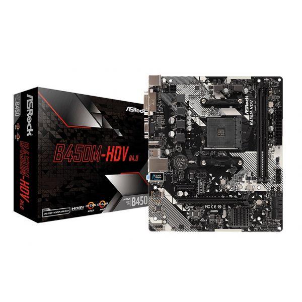 Motherboard Asrock B450M-HDV R4.0 - 90-MXB9N0-A0UAYZ