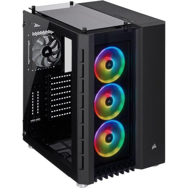 Corsair Crystal Series 680X RGB USB 3.0 Vidro Temperado Black - CC-9011168-WW