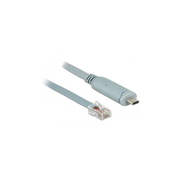 DeLOCK 89917 cabo de série Cinzento 0,5 m USB 2.0 Type-C RJ45