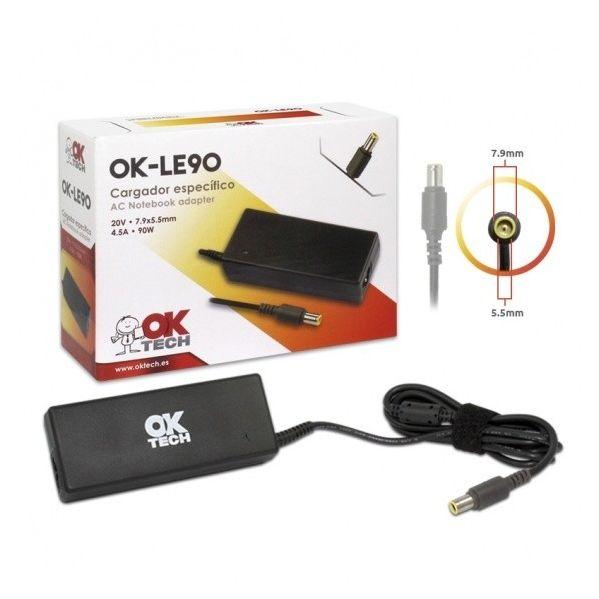 OkTech Carregador Especifico para Portatil O Lenovo 90W (20V 4.5A / 7.9 mm*5.5 mm)