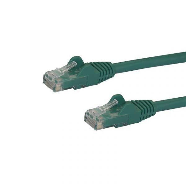 cabo de rede StarTech.com N6PATC10MGN 10m Cat6 U/UTP (UTP) Verde