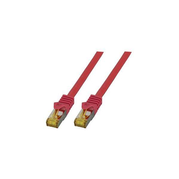 cabo de rede EFB Elektronik MK7001.0,25R S/FTP (S-STP) Vermelho 0.25m Cat6a