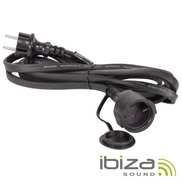 Cabo Alimentação Ibiza para Grinalda de LEDs 230V Ip44 3M