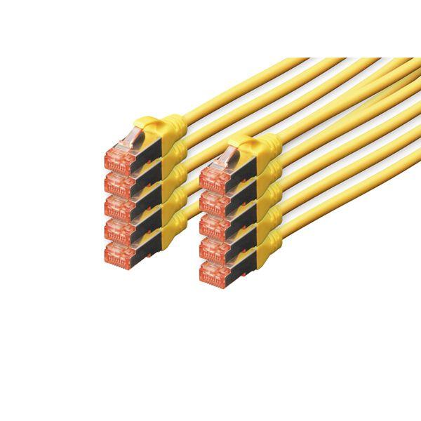 cabo de rede Digitus Professional 0.5m Cat6 S/FTP (S-STP) Amarelo