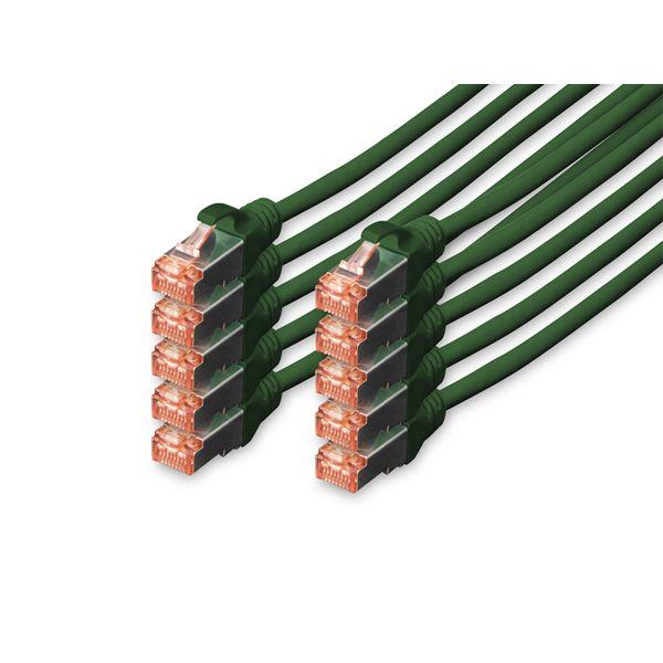 cabo de rede Digitus Professional 3m Cat6 S/FTP (S-STP) Verde