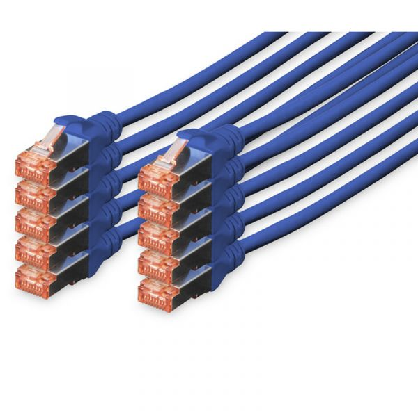 cabo de rede Digitus DK-1644-050-B-10 5m Cat6 S/FTP (S-STP) Azul