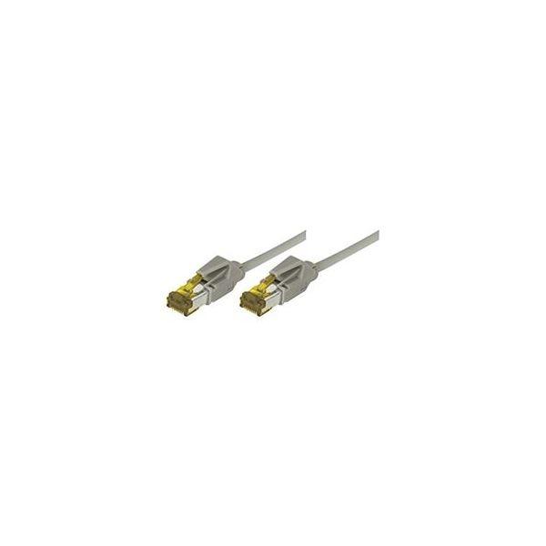 cabo de rede Connect 850031 3 m Cat6a S/FTP (S-STP) Grey