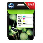 HP Tinteiro 912XL High Yield C/M/Y/K - 3YP34AE