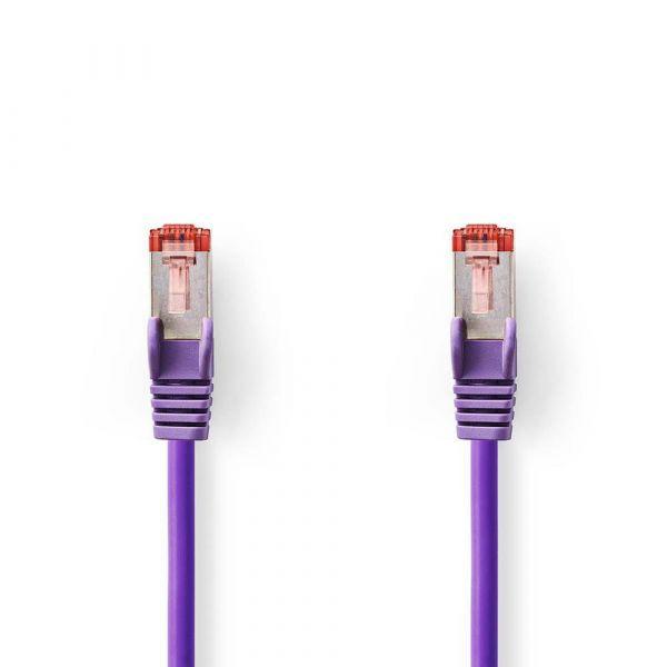 cabo de rede Nedis CCGP85221VT05 0,5 m Cat6 SF/UTP (S-FTP) violeta