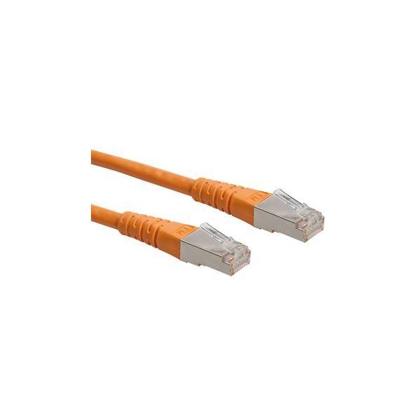 cabo de rede ROLINE 21152570 0.5m Cat6 U/UTP (UTP) Laranja
