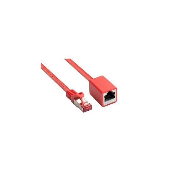 cabo de rede Alcasa 8063VR-030R 3m Cat6 S/FTP (S-STP) Vermelho