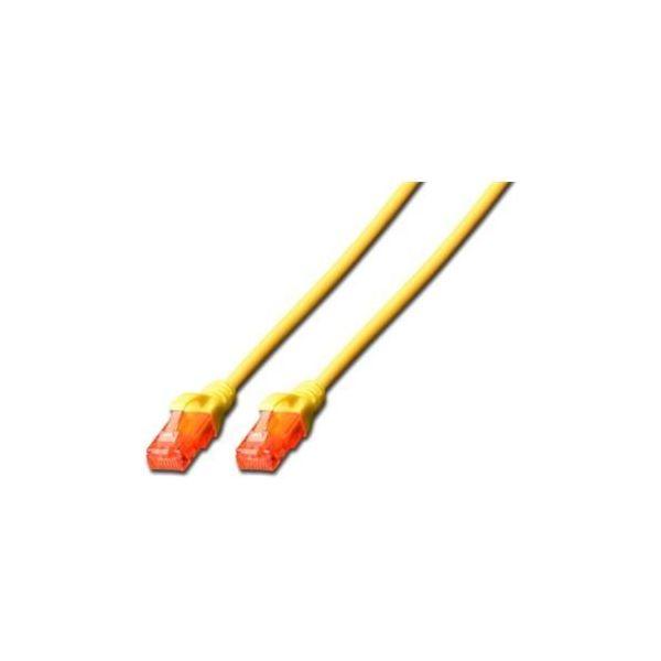 cabo de rede Digitus CAT6 U/UTP 10m 10m Cat6 U/UTP (UTP) Vermelho, Amarelo