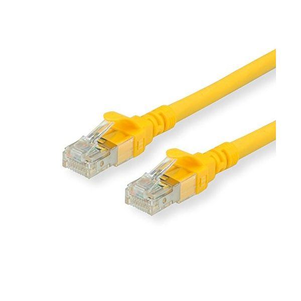cabo de rede ROLINE 21152720 0.5m Cat6a U/UTP (UTP) Amarelo