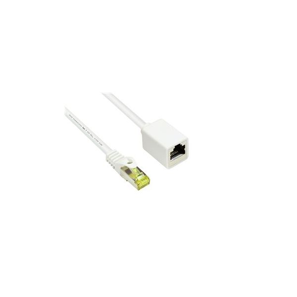 cabo de rede Alcasa 8070VR-005W 0.5m Cat7 S/FTP (S-STP) Branco
