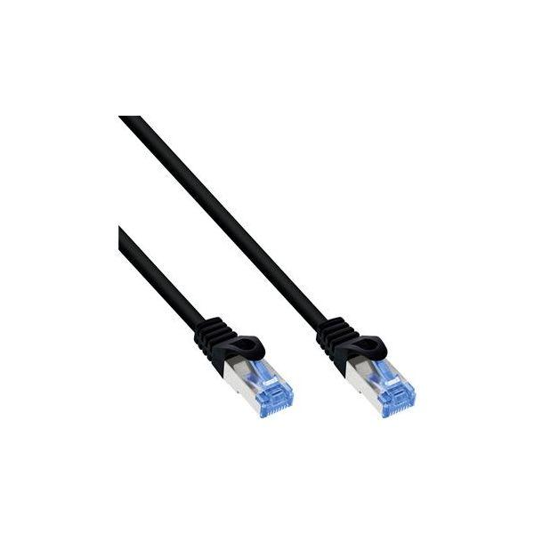 cabo de rede InLine 74802S 2m Cat6a S/FTP (S-STP) Preto