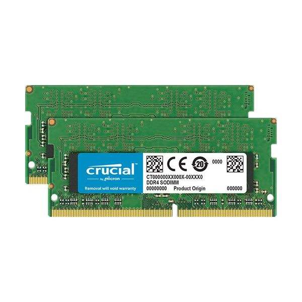 Memória RAM Crucial 8GB (2 x 4GB) DDR4 3200MHz PC4-25600 CL22 SR x16 SODIMM 1.2V - CT2K4G4SFS632A