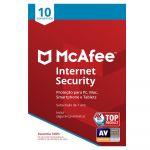 McAfee Internet Security 10 Dispositivos 1 Ano - 731944713052