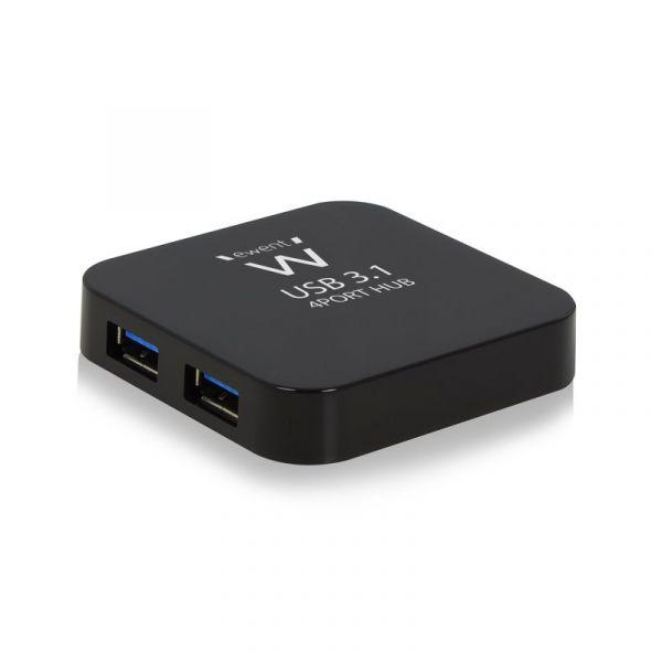 Ewent Hub 4x USB 3.1 Gen1 (USB 3.0) EW1134 Black