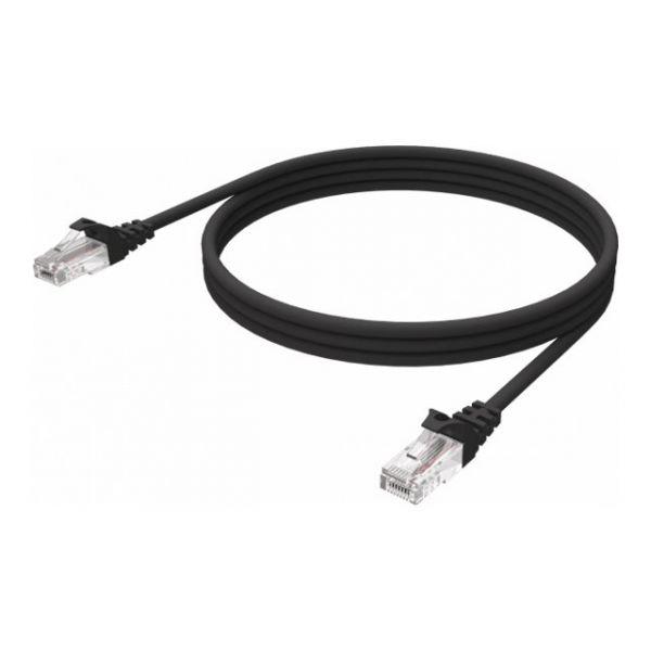 Vision 1m Black CAT6 UTP cable - TC 1MCAT6/BL
