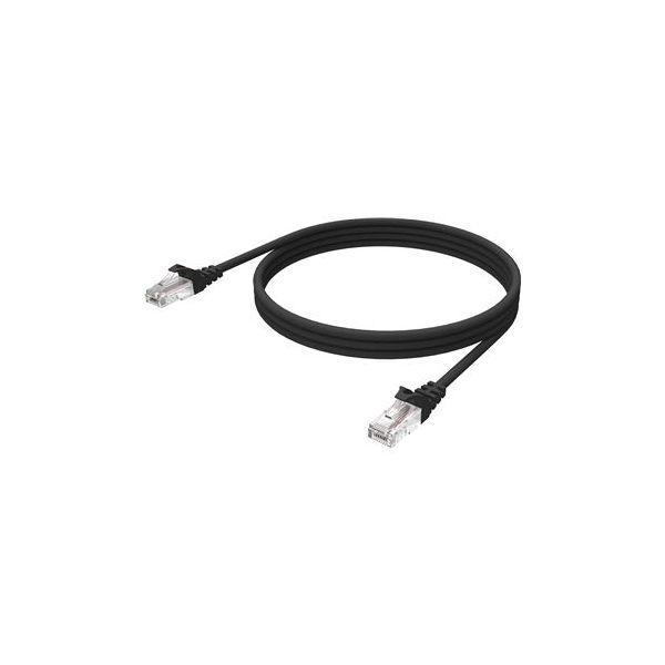 Vision 0.5m Black CAT6 UTP cable - TC 0.5MCAT6/BL