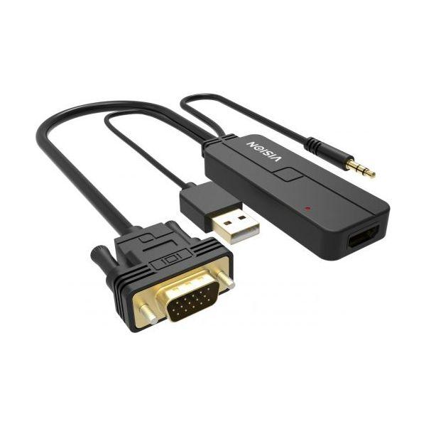 Vision VGA to HDMI Convertor - TC-VGAHDMI/BL