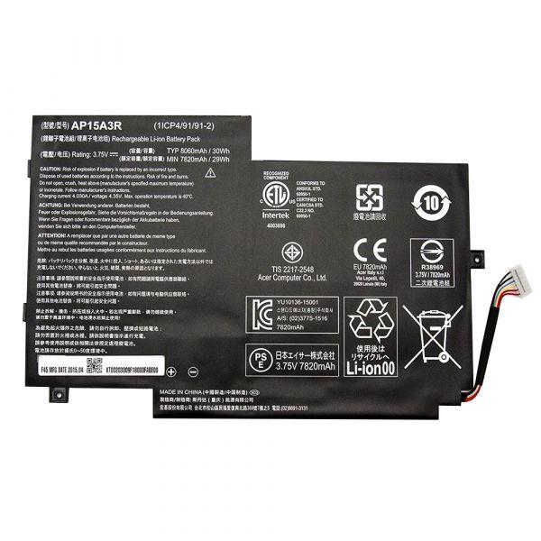 Bateria P/ Portátil Compatível Acer 8060mAh Aspire Switch 10 Sw3-013 / AP15A3R - BATPORT-23