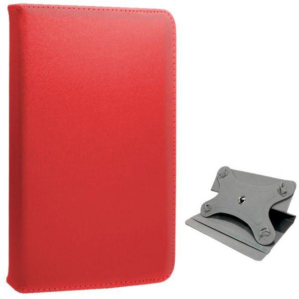 Capa para Tablet 10 Polegadas Polipiel Giratoria Roja Panorámica