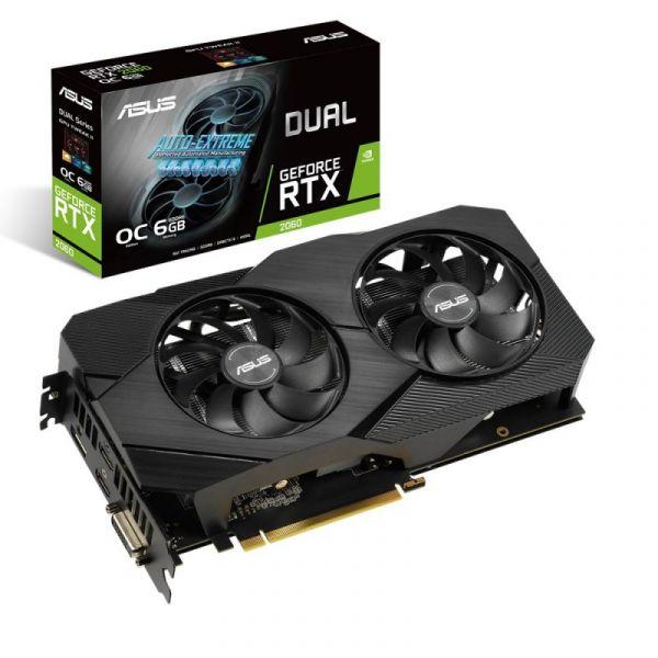 Asus GeForce RTX 2060 Dual 6Gb Oc Evo - 90Yv0Ch2-M0Na00