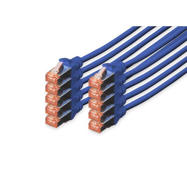 Digitus Cabo de Rede S-FTP Cat. 6 LSZH 1m Blue 10 Unidades - DK-1644-010-B-10