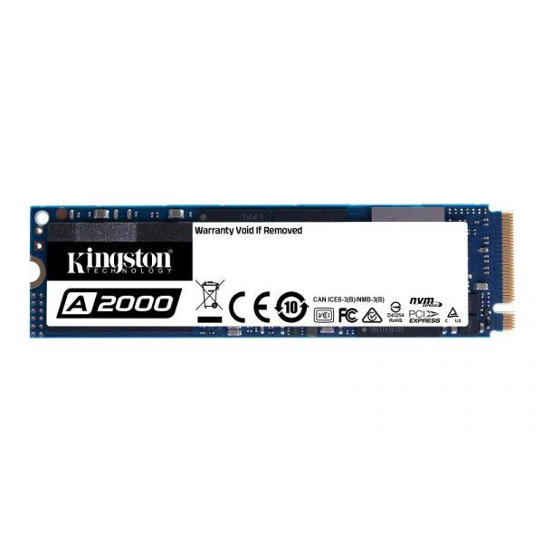 Disco SSD Kingston 1TB M.2 2280 A2000 3D TLC NVMe SSD - SA2000M8/1000G