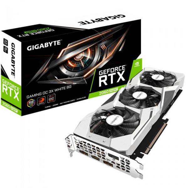 Gigabyte GeForce RTX 2060 SUPER Gaming 8GB OC White GDDR6 - GV-N206SGAMING OC WHITE-8GC