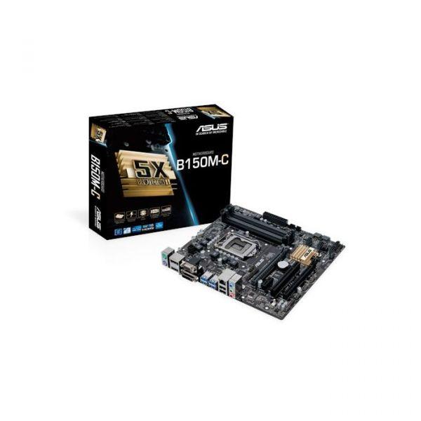 Motherboard Asus B150M-C/CSM ATX - 90MB0P00-M0EAYC