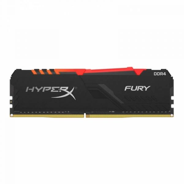 Memória RAM Kingston 8GB HyperX Fury RGB DDR4 3000MHz CL15 - HX430C15FB3A/8